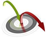 Bounce rate, web marketing — Stock Photo