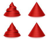 3d conical shape sliced, 6 or 7 levels — Stock Photo