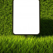 3d green grass texture, blank advertising billboard - Foto de Stock
