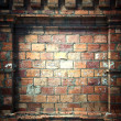 图库照片: 3d brick wall, antique architecture background