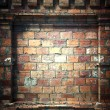 Стоковое фото: 3d brick wall, antique architecture background
