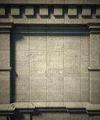 3 d のコンクリートの壁、アンティークのアーキテクチャの背景 — ストック写真