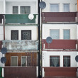 Stock Photo: Balconies in buildings texture 2