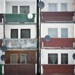 Balconies in buildings texture 2 — Stock Photo