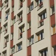 Commie Block of Flats with Energy Saving Wall Insulation — Stock Photo