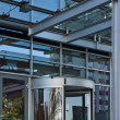Revolving Door of Entrance of Modern Office Bbuilding — Stock Photo