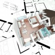 3D rendering house plan — Stock Photo #8017290