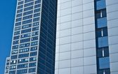 Modern Skyscrapers Office Building, Sunny Day and Blue Sky — Stock Photo