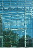 Glass Facade of Modern Minimalistic Building, Future Architecture — Stock Photo