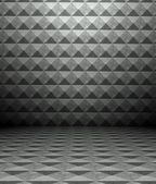 3d metal square tiles — 图库照片