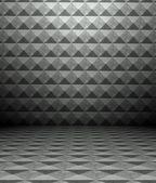 3d metal square tiles — Fotografia Stock