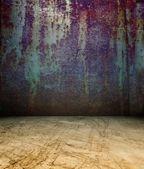 3d rostig metall vägg — Stockfoto