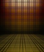 3d tartan wall, brown grating texture interior — Stock Photo