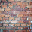 Stock Photo: Bricks wall scratched with cement texture