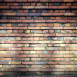 Old brick wall texture with beams of light — Stock Photo
