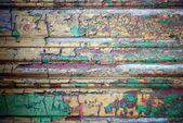 Grunge 装饰木材纹理与脱落的涂料 — 图库照片