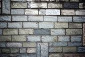 Stone bricks wall pattern texture with deep shadows — Stock Photo