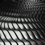 3d wavy aluminium background abstract silver pattern — Stock Photo #9137783