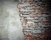 Grunge wall old and new — Stock Photo