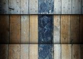 Wooden planks template grunge background — ストック写真