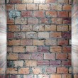Brick and Concrete texture 3d presentation — Стоковая фотография