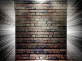Brick and Concrete texture 3d presentation — Zdjęcie stockowe
