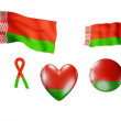 The Belarus flag - set of icons and flags — Stock Photo