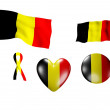The Belgium flag - set of icons and flags — Stock Photo