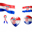 The Croatia flag - set of icons and flags - Stock Photo