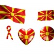 The Macedonia flag - set of icons and flags - Stock Photo