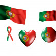 Stock Photo: The Portugal flag - set of icons and flags