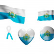 The San Marino flag - set of icons and flags — Stock Photo
