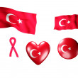 The Turkey flag - set of icons and flags — Stock Photo
