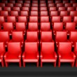 Empty cinema hall with auditorium — Stock Photo #9546874