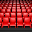 Empty cinema hall with auditorium — Stock Photo