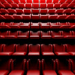 Empty cinema hall with auditorium — Stock Photo #9546876