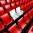 Empty cinema hall with auditorium and two reserved seat — Stock Photo #9546908