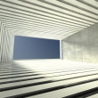 Stock Photo: 3d modern indoor, empty corridor