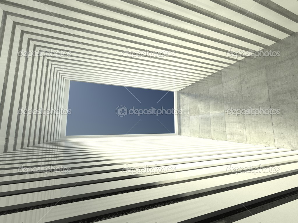 3d modern interior, empty corridor — Stock Photo #9958032