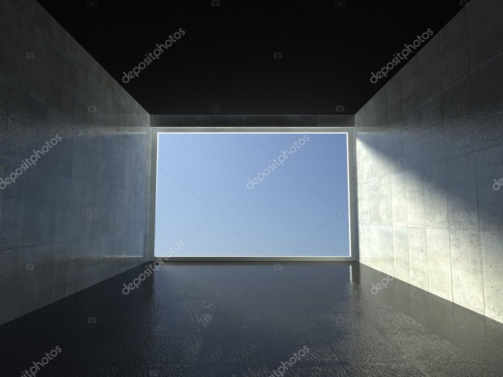 3d modern interior, empty corridor — Stock Photo #9958065
