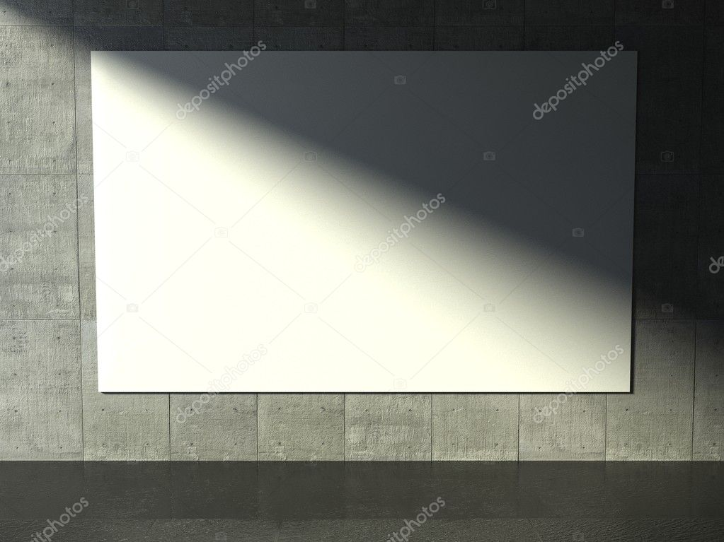 3d modern interior, empty frame — Stock Photo #9958081