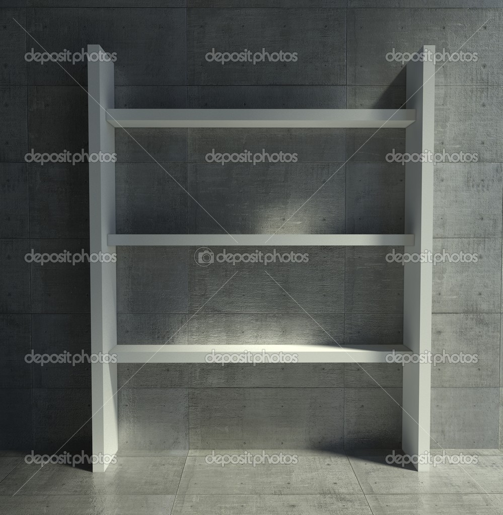 3d modern interior, empty shelf — Stock Photo #9958095