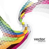 Abstract new rainbow Vector Wave design — Stock Vector
