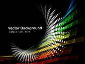 красочная мозаика черный фон swril полутоновых вектор — Cтоковый вектор