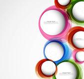 抽象的なカラフルな円の背景のベクトル — ストックベクタ