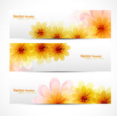 Beautiful Flower background brochure vector — Stock Vector