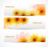 Beautiful Flower background brochure vector — Stock Vector
