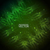 Design of Vector green colorful Circuit Board — Cтоковый вектор