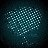 Vector halftone bright colorful speech bubbles — Stock Vector