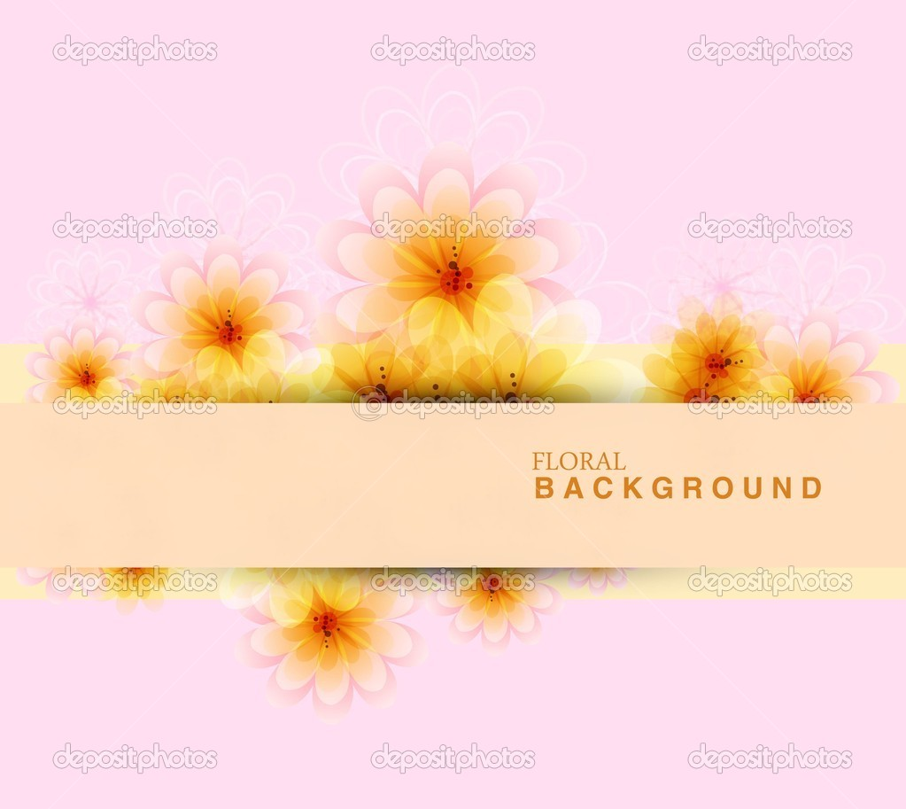 Abstract colorful floral frame background vector illustration — Stock Vector #10198305